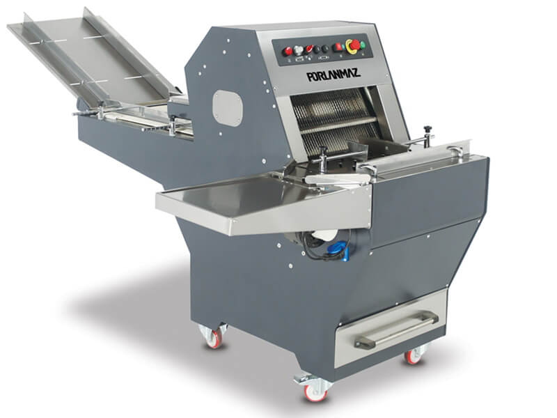 Automatic Bread Slicing Machine with pocket blower